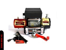 Offroad naviják Dragon Winch Maverick DWM 8000 HD, 12V, ocelové lano. (malé off-road/SUV)